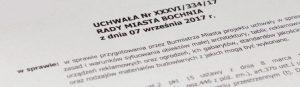 Uchwała nrXXXVI/334/17 Rady Miasta Bochnia zdnia 7 września 2017r.